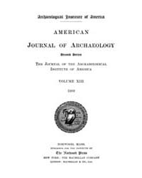 American Journal of Archaeology : 1909 V... Volume Vol. 13 by Norman, Naomi, J.