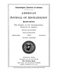 American Journal of Archaeology : 1912 V... Volume Vol. 16 by Norman, Naomi, J.