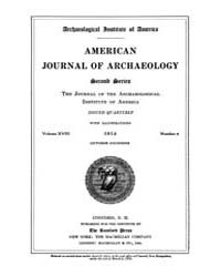 American Journal of Archaeology : 1914 V... Volume Vol. 18 by Norman, Naomi, J.