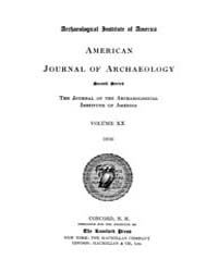 American Journal of Archaeology : 1916 V... Volume Vol. 20 by Norman, Naomi, J.