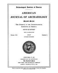 American Journal of Archaeology : 1917 V... Volume Vol. 21 by Norman, Naomi, J.