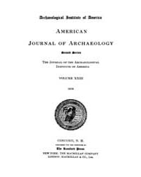 American Journal of Archaeology : 1919 V... Volume Vol. 23 by Norman, Naomi, J.