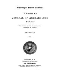 American Journal of Archaeology : 1920 V... Volume Vol. 24 by Norman, Naomi, J.