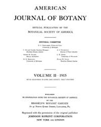 American Journal of Botany : 1915 Vol. 2... Volume Vol. 2 by Jernstedt, Judy