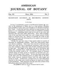 American Journal of Botany : 1916 Vol. 3... Volume Vol. 3 by Jernstedt, Judy