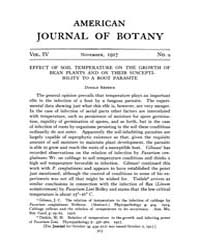 American Journal of Botany : 1917 Vol. 4... Volume Vol. 4 by Jernstedt, Judy