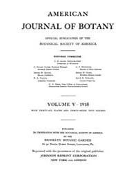 American Journal of Botany : 1918 Vol. 5... Volume Vol. 5 by Jernstedt, Judy