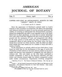 American Journal of Botany : 1918 Vol. 5... Volume Vol. 5 by Jernstedt, Judy