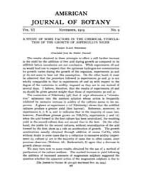 American Journal of Botany : 1919 Vol. 6... Volume Vol. 6 by Jernstedt, Judy