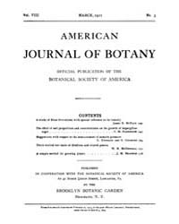 American Journal of Botany : 1921 Vol. 8... Volume Vol. 8 by Jernstedt, Judy