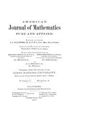 American Journal of Mathematics : 1878 V... Volume Vol. 1 by Sogge, Christopher