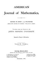 American Journal of Mathematics : 1880 V... Volume Vol. 3 by Sogge, Christopher