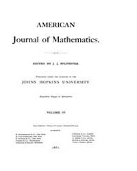 American Journal of Mathematics : 1881 V... Volume Vol. 4 by Sogge, Christopher