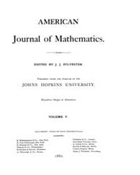 American Journal of Mathematics : 1882 V... Volume Vol. 5 by Sogge, Christopher