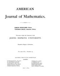 American Journal of Mathematics : 1885 V... Volume Vol. 7 by Sogge, Christopher