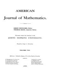 American Journal of Mathematics : 1885 V... Volume Vol. 8 by Sogge, Christopher