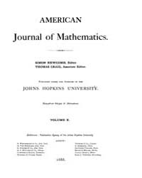 American Journal of Mathematics : 1887 V... Volume Vol. 10 by Sogge, Christopher