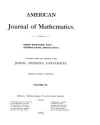 American Journal of Mathematics : 1888 V... Volume Vol. 11 by Sogge, Christopher