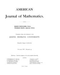 American Journal of Mathematics : 1890 V... Volume Vol. 12 by Sogge, Christopher