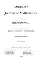 American Journal of Mathematics : 1890 V... Volume Vol. 13 by Sogge, Christopher