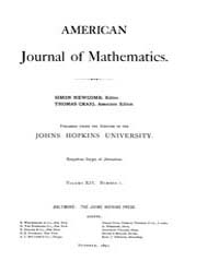American Journal of Mathematics : 1891 V... Volume Vol. 14 by Sogge, Christopher