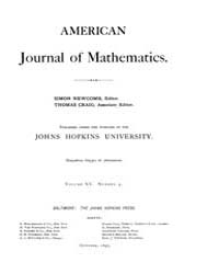 American Journal of Mathematics : 1893 V... Volume Vol. 15 by Sogge, Christopher