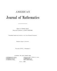 American Journal of Mathematics : 1895 V... Volume Vol. 17 by Sogge, Christopher