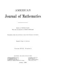 American Journal of Mathematics : 1896 V... Volume Vol. 18 by Sogge, Christopher