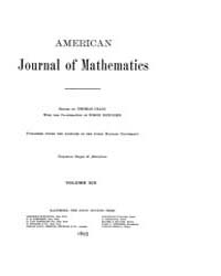American Journal of Mathematics : 1897 V... Volume Vol. 19 by Sogge, Christopher