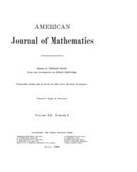 American Journal of Mathematics : 1898 V... Volume Vol. 20 by Sogge, Christopher