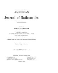 American Journal of Mathematics : 1900 V... Volume Vol. 22 by Sogge, Christopher