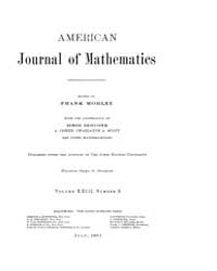 American Journal of Mathematics : 1901 V... Volume Vol. 23 by Sogge, Christopher