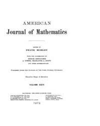 American Journal of Mathematics : 1904 V... Volume Vol. 26 by Sogge, Christopher