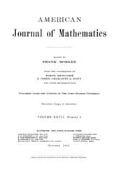 American Journal of Mathematics : 1905 V... Volume Vol. 27 by Sogge, Christopher