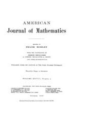 American Journal of Mathematics : 1906 V... Volume Vol. 28 by Sogge, Christopher