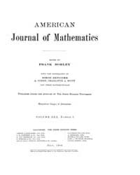 American Journal of Mathematics : 1908 V... Volume Vol. 30 by Sogge, Christopher