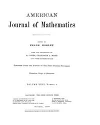 American Journal of Mathematics : 1909 V... Volume Vol. 31 by Sogge, Christopher