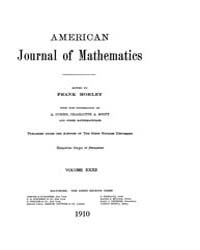 American Journal of Mathematics : 1910 V... Volume Vol. 32 by Sogge, Christopher