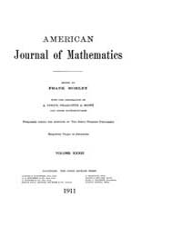 American Journal of Mathematics : 1911 V... Volume Vol. 33 by Sogge, Christopher