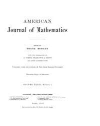 American Journal of Mathematics : 1912 V... Volume Vol. 34 by Sogge, Christopher