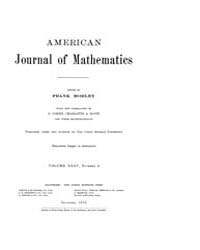 American Journal of Mathematics : 1913 V... Volume Vol. 35 by Sogge, Christopher