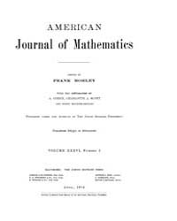 American Journal of Mathematics : 1914 V... Volume Vol. 36 by Sogge, Christopher