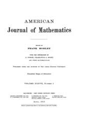 American Journal of Mathematics : 1915 V... Volume Vol. 37 by Sogge, Christopher