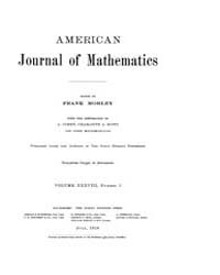 American Journal of Mathematics : 1916 V... Volume Vol. 38 by Sogge, Christopher