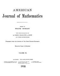 American Journal of Mathematics : 1918 V... Volume Vol. 40 by Sogge, Christopher