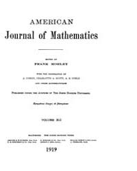 American Journal of Mathematics : 1919 V... Volume Vol. 41 by Sogge, Christopher