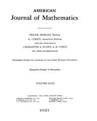 American Journal of Mathematics : 1921 V... Volume Vol. 43 by Sogge, Christopher
