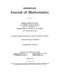 American Journal of Mathematics : 1922 V... Volume Vol. 44 by Sogge, Christopher