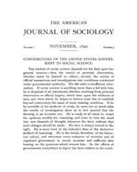 American Journal of Sociology : 1895 Vol... Volume Vol. 1 by Abbott, Andrew