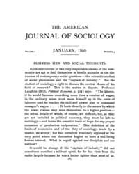 American Journal of Sociology : 1896 Vol... Volume Vol. 1 by Abbott, Andrew